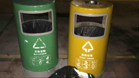 超市垃圾桶圆形