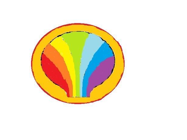 彩虹圆圈矢量素材